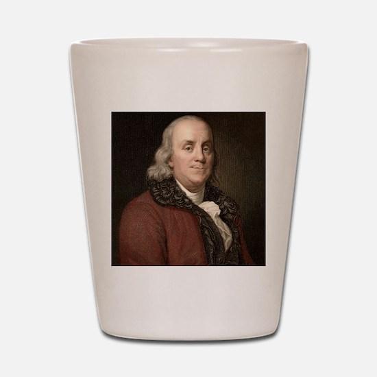 1778 Benjamin Franklin scientist Shot Glass