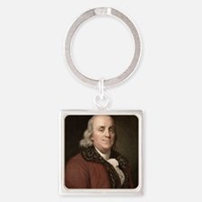 1778 Benjamin Franklin scientist Square Keychain
