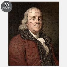 1778 Benjamin Franklin scientist Puzzle