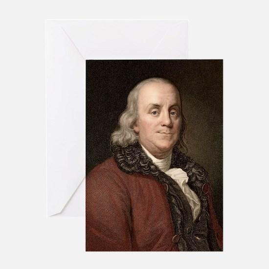 1778 Benjamin Franklin scientist Greeting Card