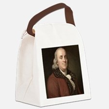 1778 Benjamin Franklin scientist Canvas Lunch Bag