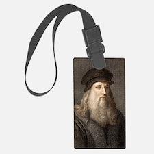 1490 Leonardo Da Vinci colour po Luggage Tag