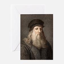 1490 Leonardo Da Vinci colour portra Greeting Card