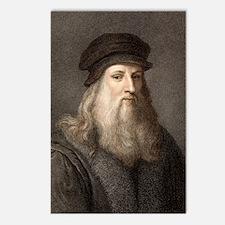 1490 Leonardo Da Vinci co Postcards (Package of 8)