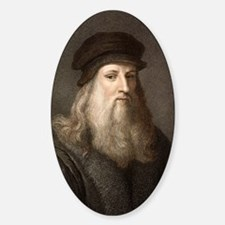 1490 Leonardo Da Vinci colour portr Decal
