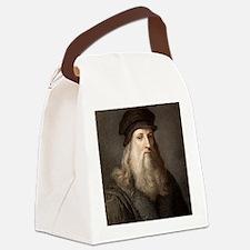 1490 Leonardo Da Vinci colour por Canvas Lunch Bag