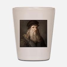 1490 Leonardo Da Vinci colour portrait Shot Glass
