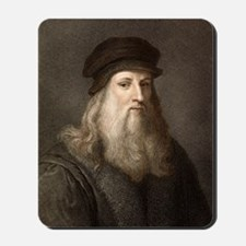 1490 Leonardo Da Vinci colour portrait Mousepad