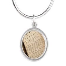 1691 John Ray's Natural Theol Silver Oval Necklace