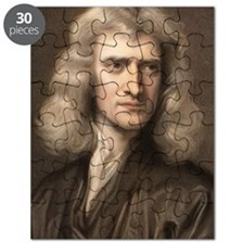1689 Sir Isaac Newton portrait young Puzzle