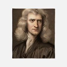 1689 Sir Isaac Newton portrait young Throw Blanket