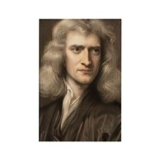 1689 Sir Isaac Newton portrait yo Rectangle Magnet