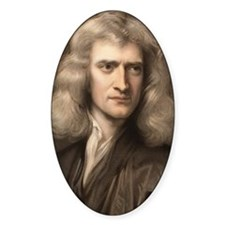 1689 Sir Isaac Newton portrait youn Stickers