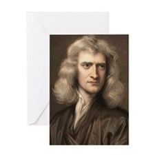 1689 Sir Isaac Newton portrait young Greeting Card