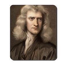1689 Sir Isaac Newton portrait young Mousepad