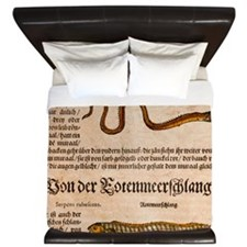 1558 Gessner Baby Sea serpent or eel King Duvet