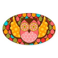 Owl Boheme Pink Decal