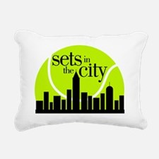 Sets in the City Rectangular Canvas Pillow