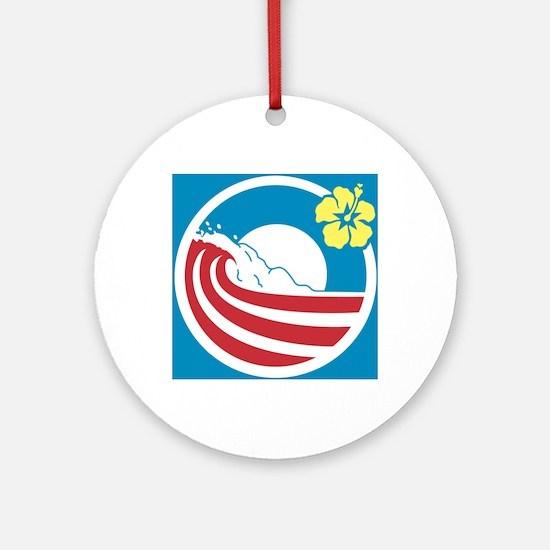 Obama 2012 Round Ornament