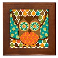 Owl Boheme Brown Framed Tile