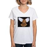 Domestic Flight Pigeon Women's V-Neck T-Shirt