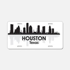 Houston Aluminum License Plate