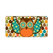 Owl Boheme Brown Aluminum License Plate