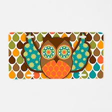 Owl Boheme Brown Aluminum License Plate