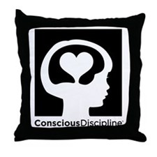 Conscious Discipline black logo Throw Pillow