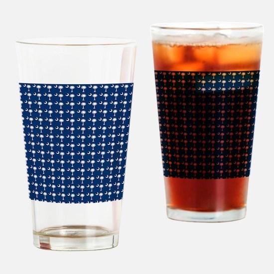 South Carolina State Palmetto Flag Drinking Glass