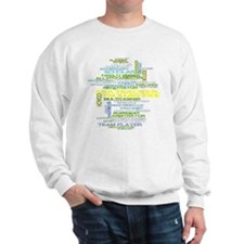 Teachers Hats Word Art Sweatshirt