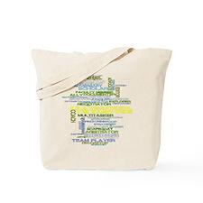 Teachers Hats Word Art Tote Bag