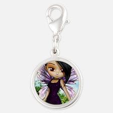 Lil Fairy Princess Silver Round Charm