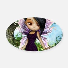 Lil Fairy Princess Oval Car Magnet