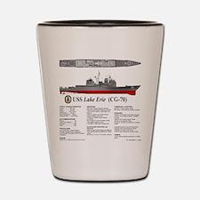 USS Lake Erie CG-70 Shot Glass