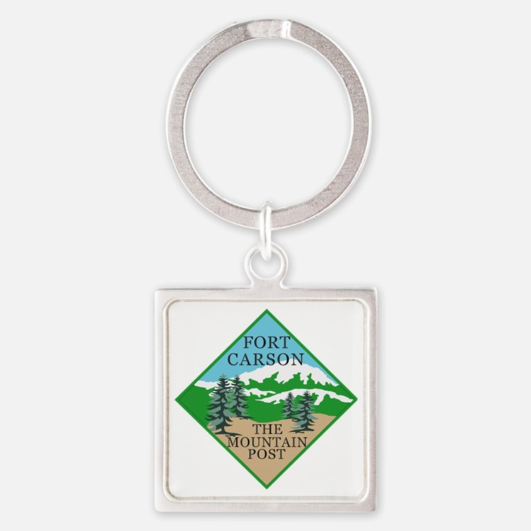 Fort Carson Square Keychain