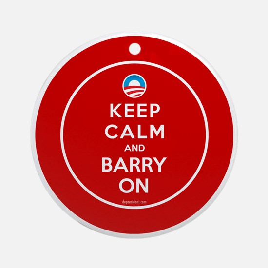 Keep calm and barry on Round Ornament