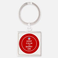 Keep calm and barry on Square Keychain