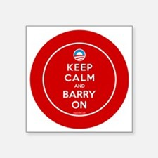 """Keep calm and barry on Square Sticker 3"""" x 3"""""""