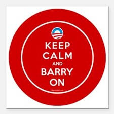 """Keep calm and barry on Square Car Magnet 3"""" x 3"""""""