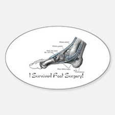 I Survived Foot Surgery! Oval Decal