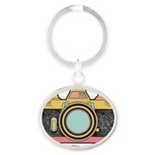 Say Cheese Oval Keychain