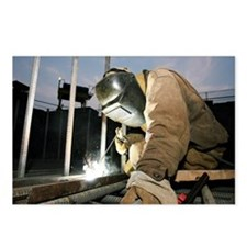 Welder working on a new b Postcards (Package of 8)