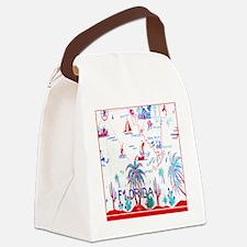 Vintage Florida Tablecloth Shower Canvas Lunch Bag