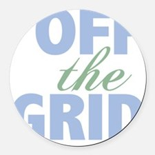 Off the Grid Round Car Magnet