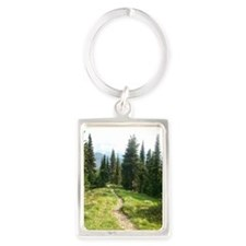Trails are King Portrait Keychain
