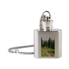 Trails are King Flask Necklace