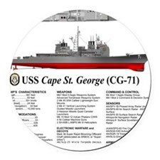 USS Cape St. George CG-71 Round Car Magnet