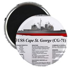 USS Cape St. George CG-71 Magnet