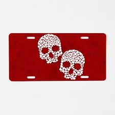Heart Skull Clutch bag Aluminum License Plate